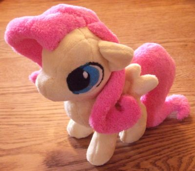 Fluttershy Filly Plush by JyamiTeK
