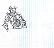 Unfinished Halo Guy by IdanCarre