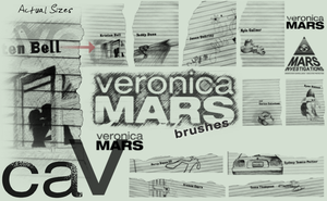Veronica Mars Brushes by Cammerel