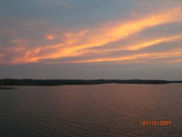 My lake and sky by annabellthehippie