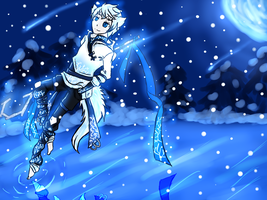 Snow night time by aerith31