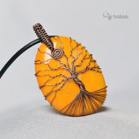 Wire wrapped tree of life pendant by artual