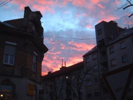 Maribor - red sky by WAR-DOG