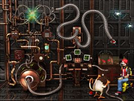 Steampunk Pokemon Center 3D by robbienordgren