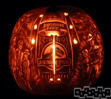 Jurassic Pumpkin spinning by A--Anthony
