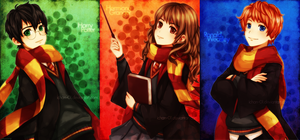 Golden trio by ichan-desu