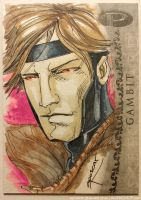 Upper Deck Marvel Premier: Gambit by aposcar