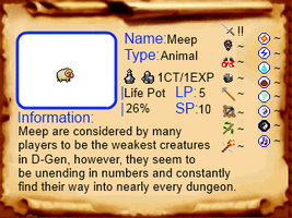 Monster Compendium 1: Meep by OneFourtySevenAM