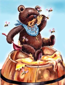 The Bear and The Bees by HoneyBees987