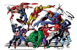 Classic Avengers by scottreed