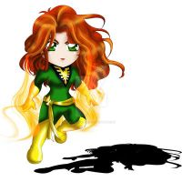 Jean Grey Chibi by ExoroDesigns