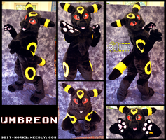 Umbreon -digitigrade fursuit- by TrelDaWolf