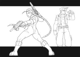 cammy and charlie by samuraiblack