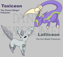 Steel and Poison Eeveelutions by DanielisAwesome52