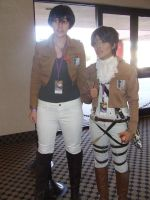 Attack on titans characters! at Ahn!Kon 2014 by CosplayCrazyProducti