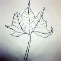 The Leaf by PaintingSaint