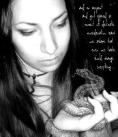 eve and the snake by pinupkate