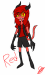 Red (Zoophobia Oc) by pollydragon
