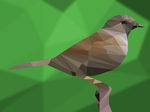 Low Poly Sparrow by Ju43