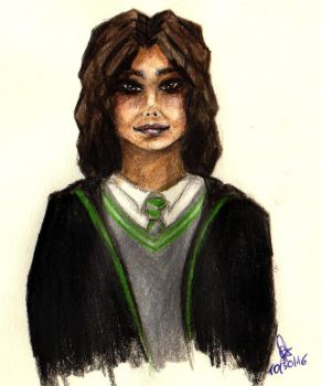 Slytherin girl by happygonion