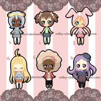 Adoptable batch 1 [Open] by Cherry-tama