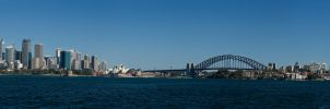 Sydney Harbour Panorama by jukeboxandy