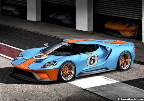 GULF-liveried Ford GT by jonsibal