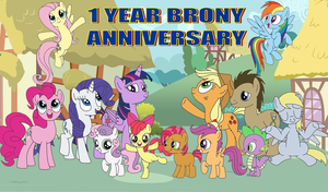 1 Year Brony Anniversary by equestriaguy637