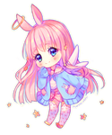 Commission - Angel bunny by Hyanna-Natsu