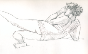 Dr. Sketchy's Model by doctor-morbius