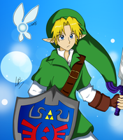 OOT Link and Navi Fanart by kuki4982