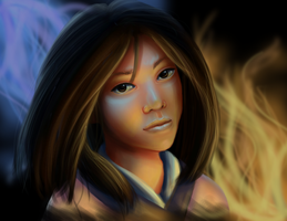 Speedpaint: Ming-Na as Mulan by Sarky-Sparky