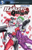 Bad Romance - Harley Quinn Sketch Cover by ibroussardart