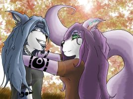 Thankful for Each Other by HTX-Wolf