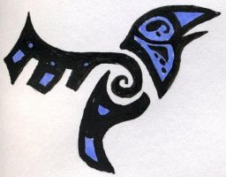 tribal crow by midniteoil
