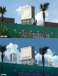 Before and After Advertisement Board by mclelun