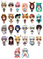 Pixel Chibi Request Batch by bunnilu