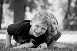 brother and sister fun in the park by Dom410