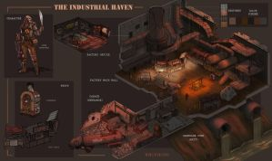 The Industrial Haven Level Design by WH1T3F4N6