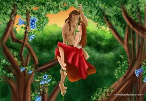 Tarzan and Jane by Mareishon