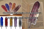 Gryfon Feather Bookmarks by lvadams
