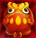 Pissed Darumaka by Chewy-Meowth