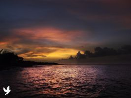 Sun Setting Jamaica by dancpicturez