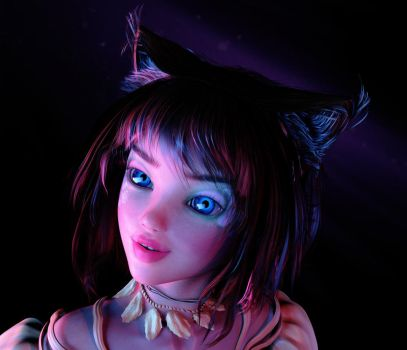Cat Girl Made by James B. Wilson by JamesBWilson