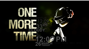 One More Time A Tribute To Daft Punk Rainmeter by CrazyXB