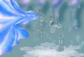 Jack Frost and Elsa in Genderbender_Contest Entry by CleopatraDiNekomata