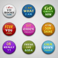 Colorful n Wicked Badges by vivrocks