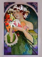 copy of A. Mucha 'Flower' by FunkyShaeri