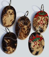 Commission: Animal Keyrings by BumbleBeeFairy