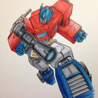 Optimusprime Robatkins Copic by FlatsNColors